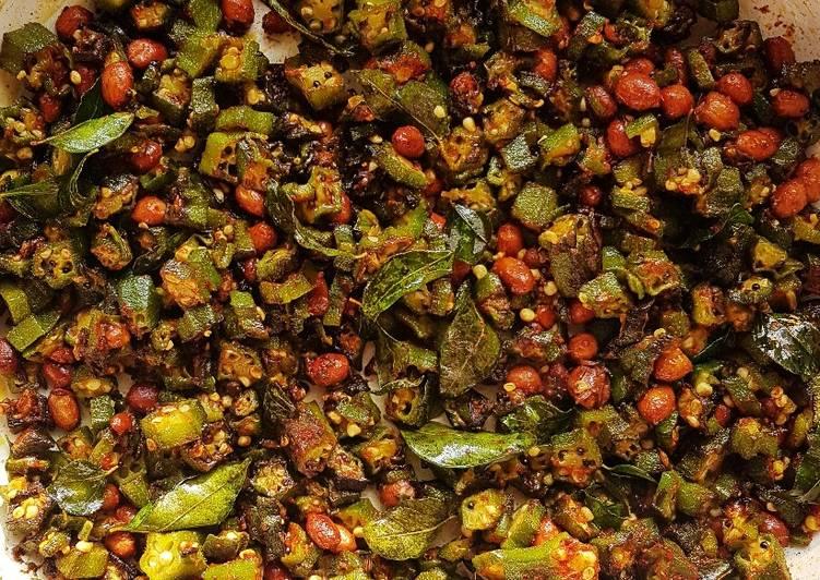 Recipe of Most Popular Okra Peanut Fry