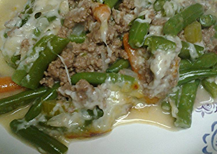 Simple Way to Prepare Perfect Ground beef and green bean casserole