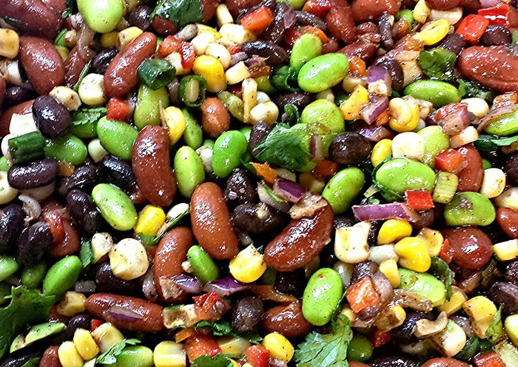 Steps to Make Super Quick Homemade Bean and Edamame Salad