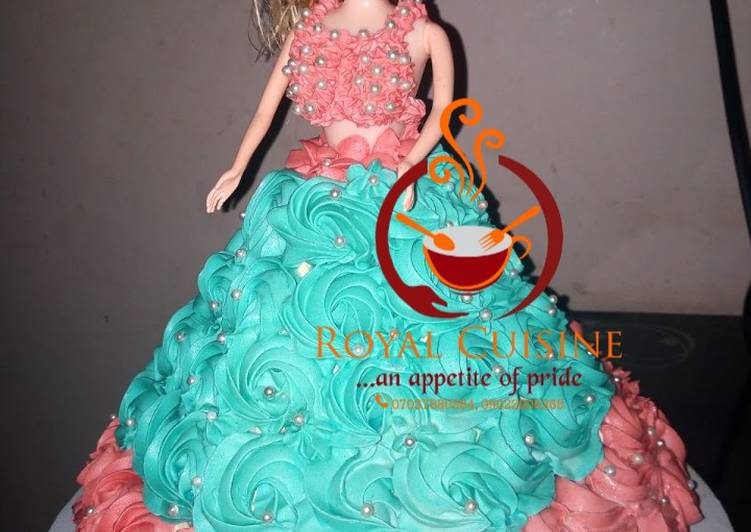 Step-by-Step Guide to Make Super Quick Homemade Vanilla doll cake with butter cream icing