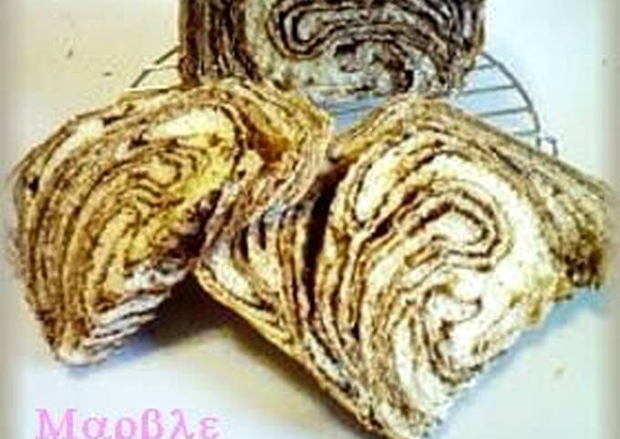 Chocolate Marble Bread Made in a Bread Machine