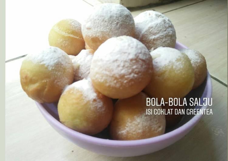 BOLA-BOLA SALJU #isi coklat & greentea#