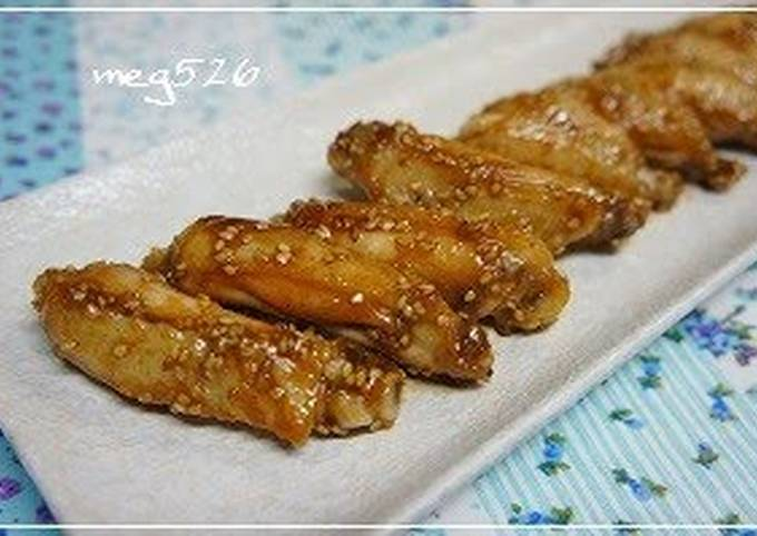 Easy Teriyaki Chicken Wings with Sesame Seeds
