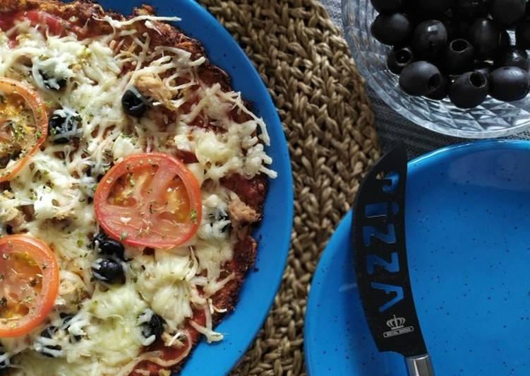 Pizza 🍕healthy de Coliflor🥦