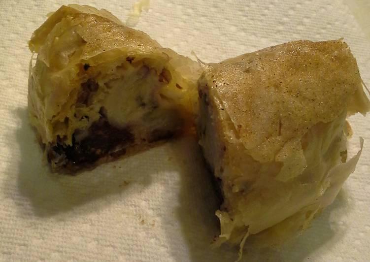 Chocolate Banana Smores Wrap