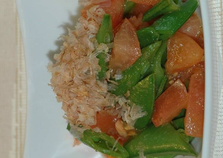 Easiest Way to Prepare Perfect Snap Peas and Tomatoes with Yuzu Pepper