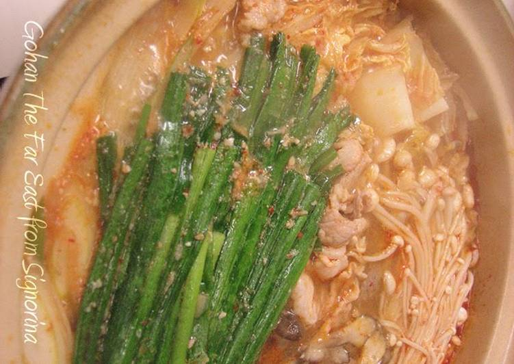 Recipe of Speedy Pork Kimchi Hot Pot with Delicious Soup