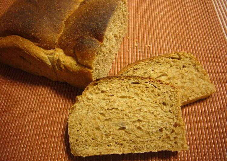 Steps to Prepare Any-night-of-the-week 100% Whole Wheat Oil-Free Bread