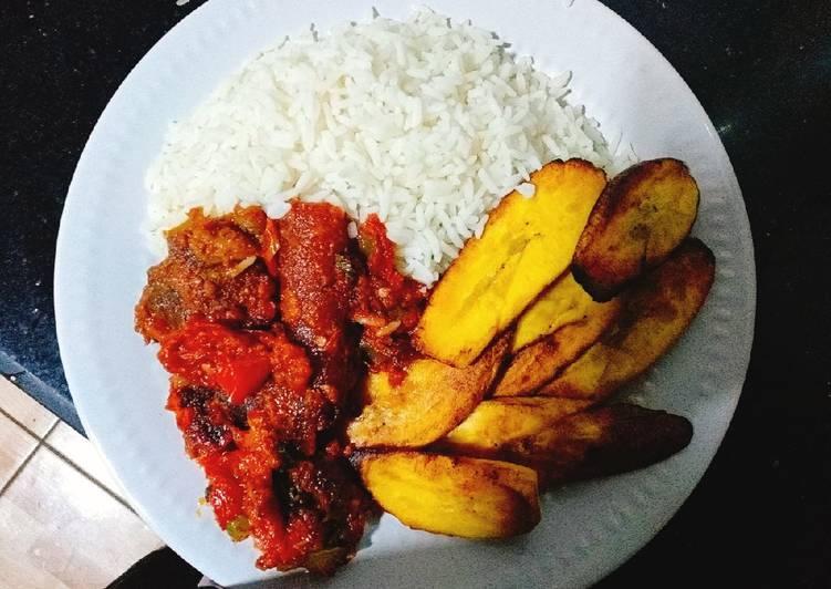 Simple Way to Make Super Quick Homemade Fried pomo pepper sauce n white rice