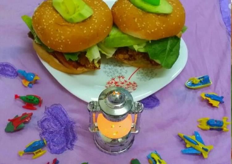 Homemade Chicken Zinger Burger
