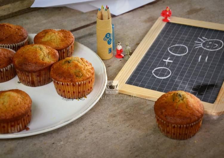 Muffins poire et mûres