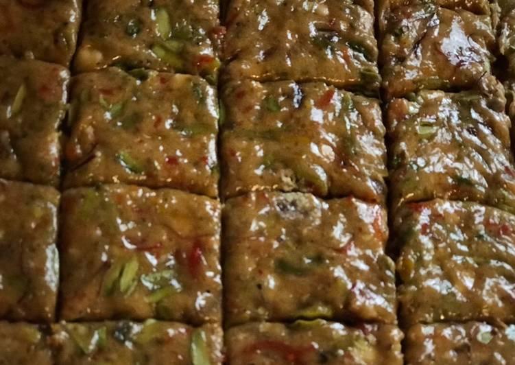 Steps to Prepare Super Quick Homemade Walnut, pistachios and Pecan nut chikki