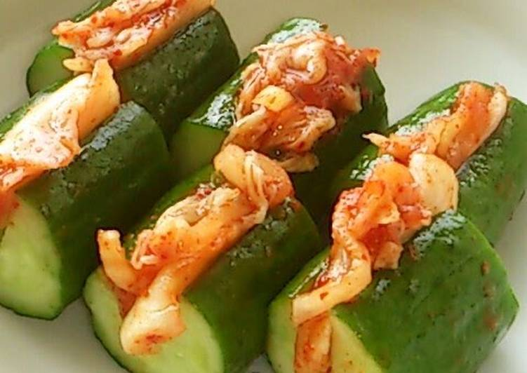The Best Soft and Chewy Dinner Easy Ultimate Oi-sobagi with Cucumbers & Kimchi