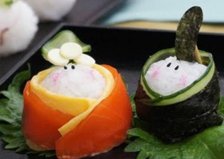 For Hinamatsuri (Doll Festival): Perfectly Round Temari Sushi #1