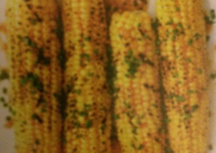 Grilled Corn With Steakhouse Butter