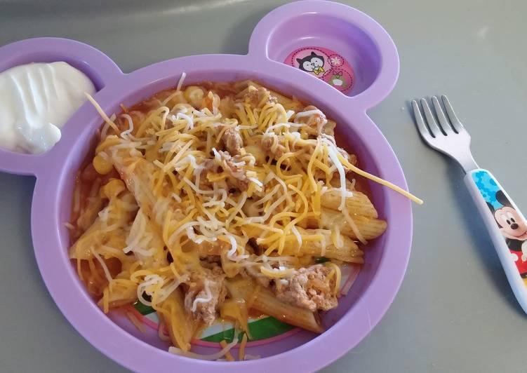 Turkey noodle salsa caboodle