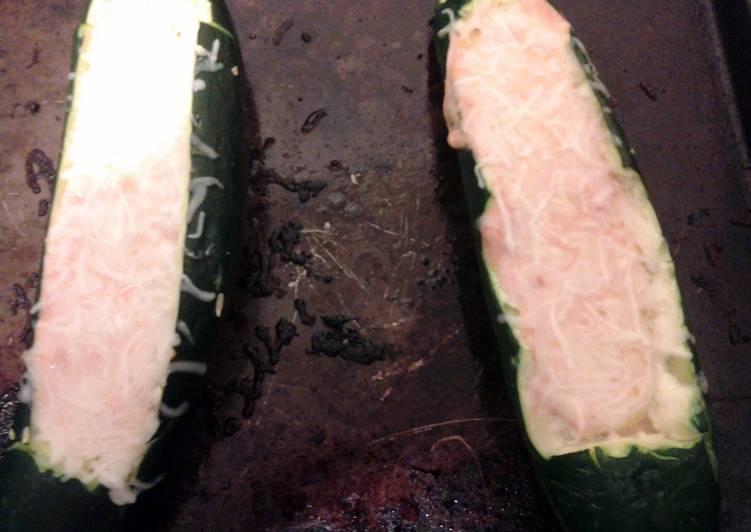 Recipe: Appetizing Italian Stuffed Zucchini