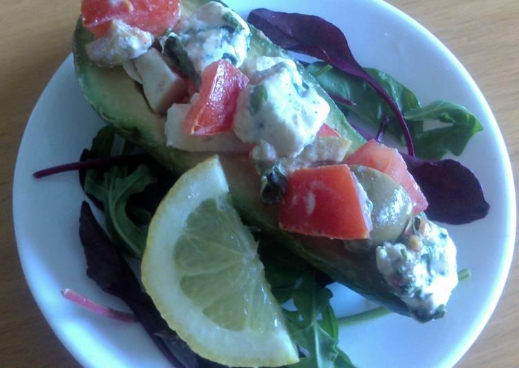 Sig's Tomato,Feta and Gorgonzola salad in Avocado