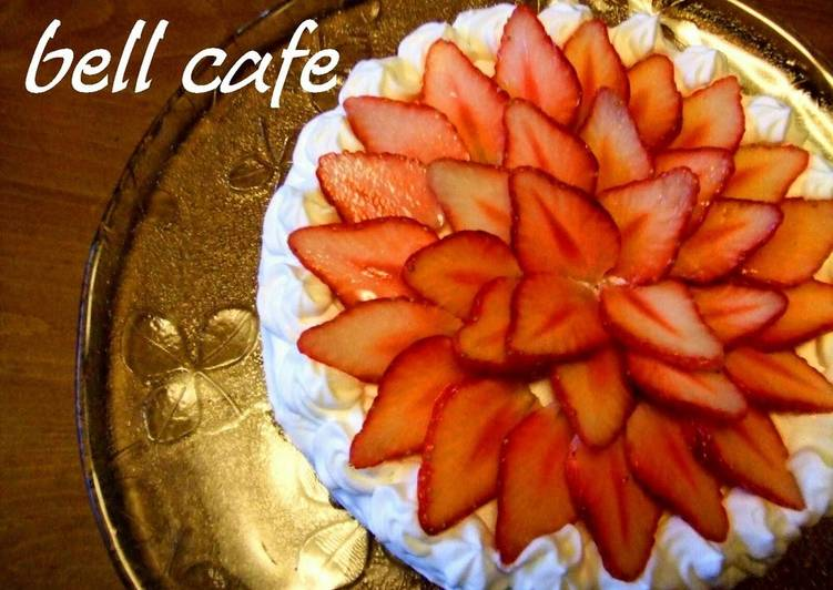 How to Prepare Ultimate A Strawberry Cake Decorated like a Flower