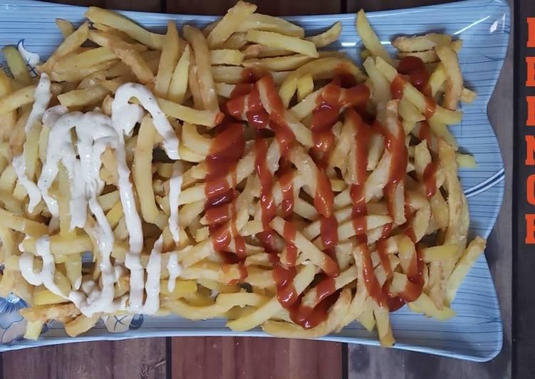 Steps to Make Homemade Crispy French Fries
