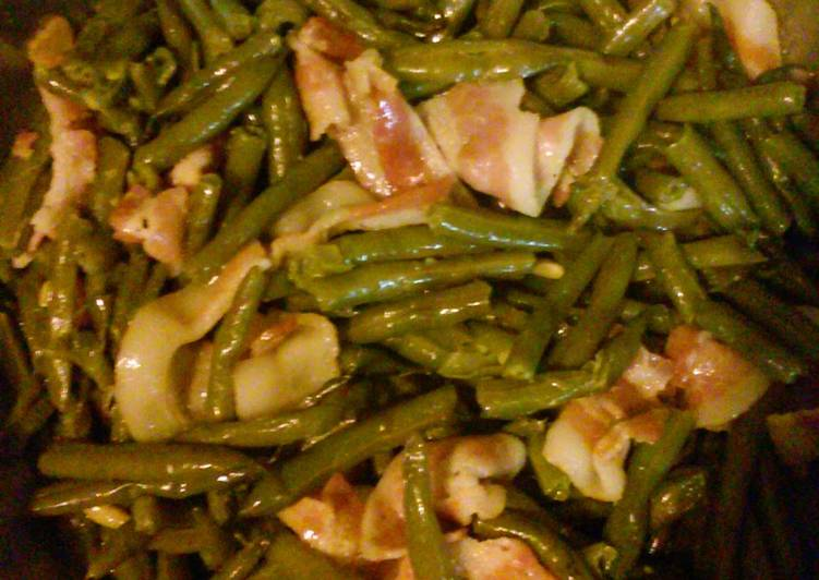 Recipe of Homemade Fresh Green Beans with Bacon