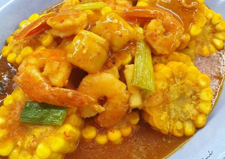 Seafood Saus Padang ala kaki lima