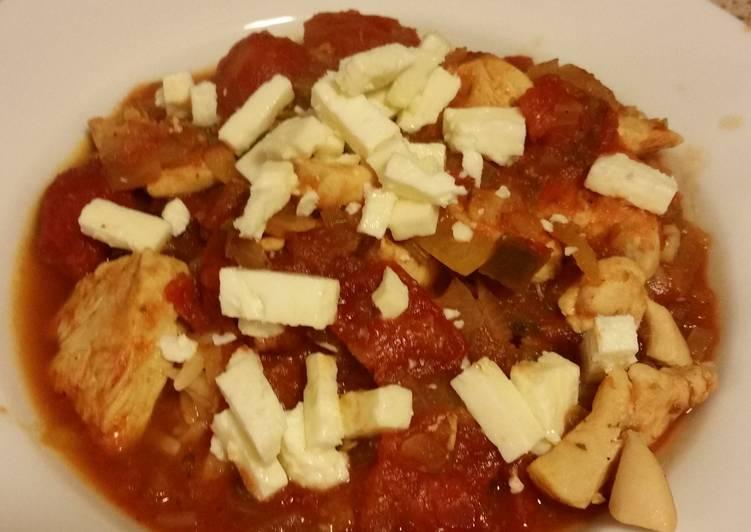 Tomato-Feta Chicken w/ Orzo