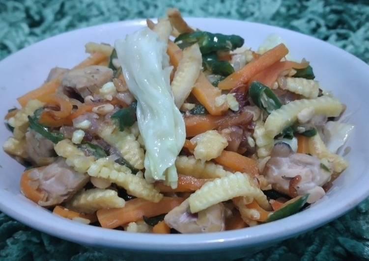 Tumis Sayur Campur Wortel Soleng Kol Tempe (Non MSG)