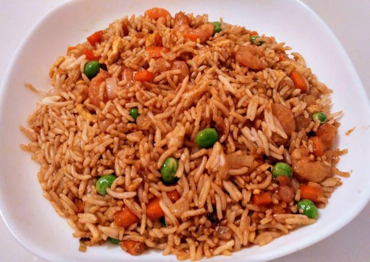 Riz cantonais légumes et petites crevettes