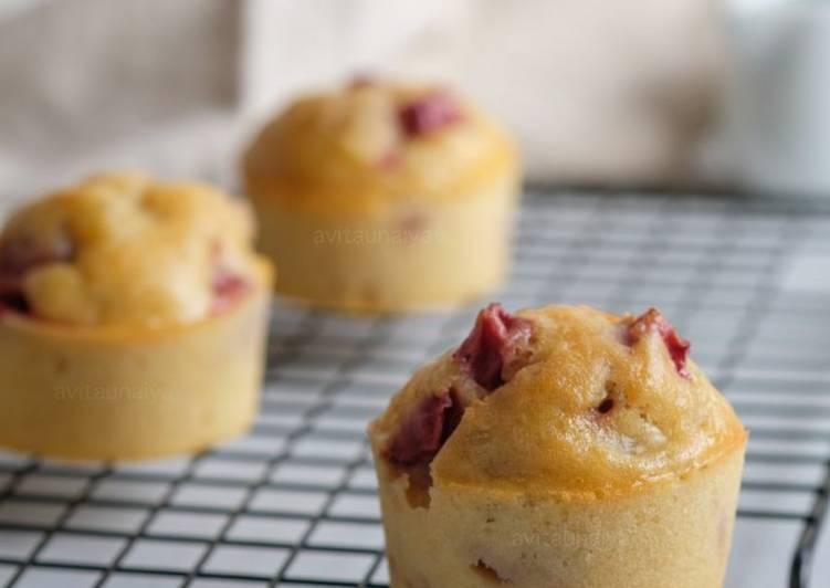 Muffin Kentang Strawberry Keju