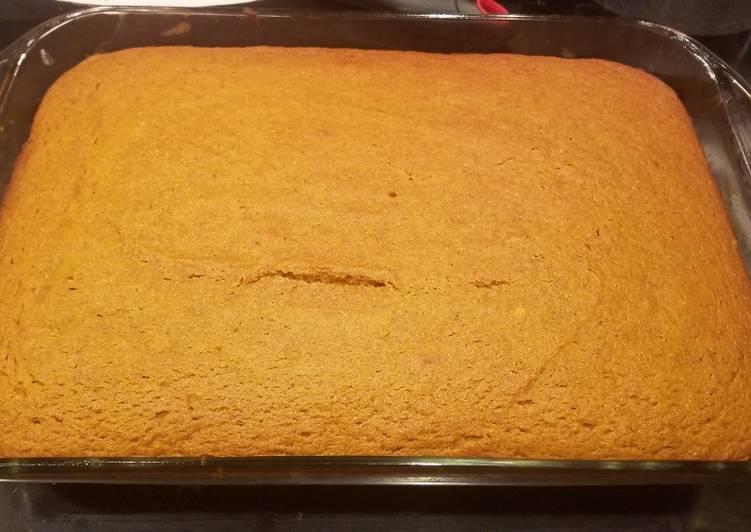 Recipe of Award-winning Gluten free/ corn free Pumpkin pie cake