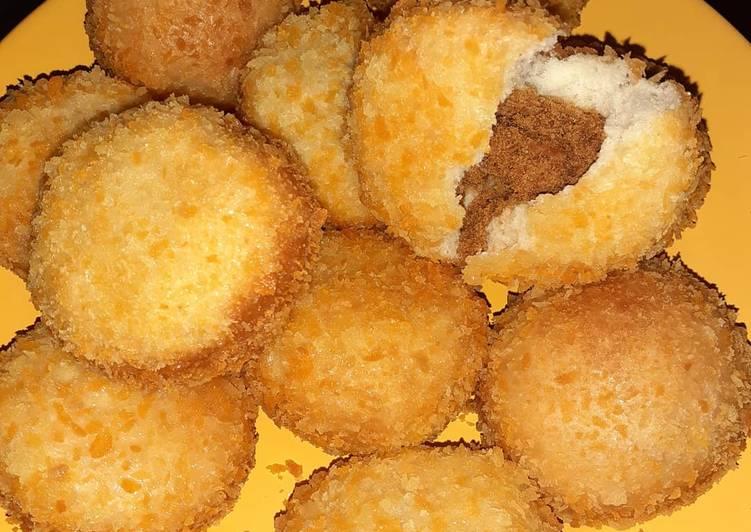 Roti Goreng Abon No Egg No Milk
