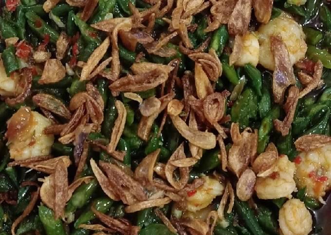 Resep Kacang panjang tumis udang pedas…😁 Ala Luvita Hodiono MasterChef Indonesia