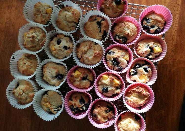 Peach & blueberry muffins healthy