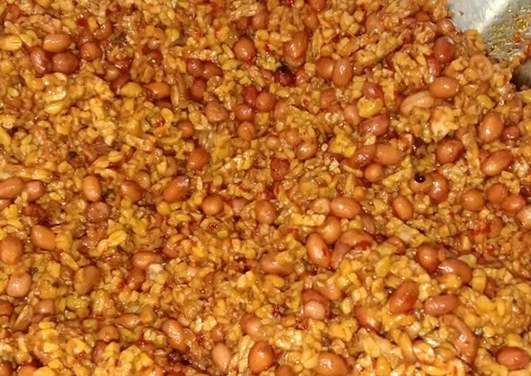 Orek Tempe Kacang Kering bahan mudah