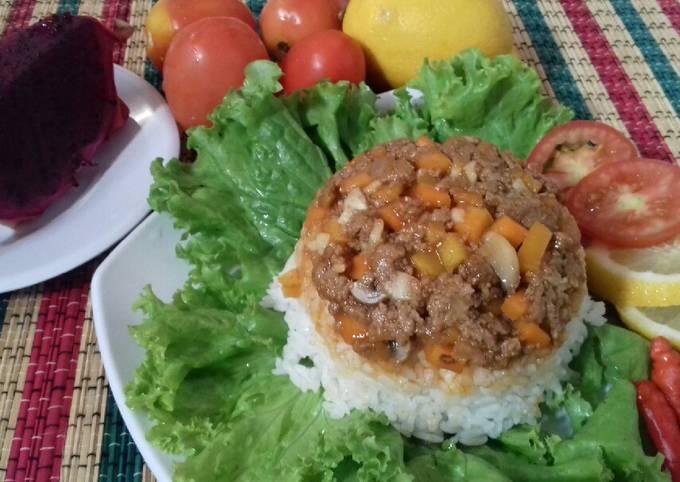 Nasi_Tumis jamur wortel