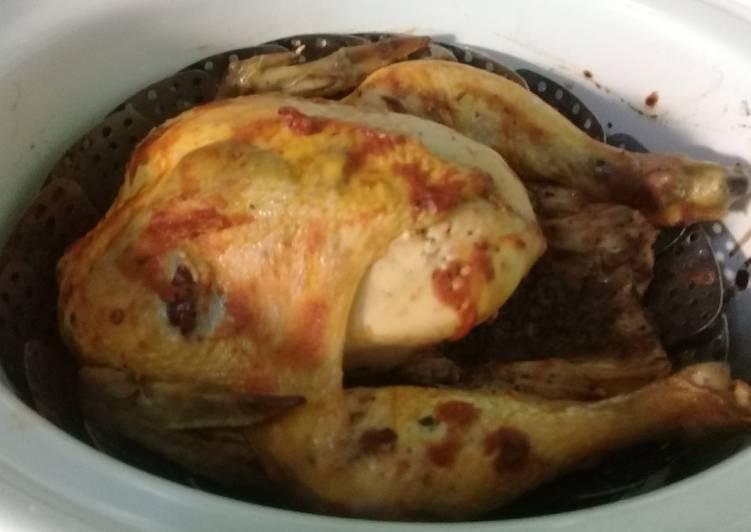 Pollo asado al chipotle (Olla de cocción lenta-CrockPot-SlowCooker)