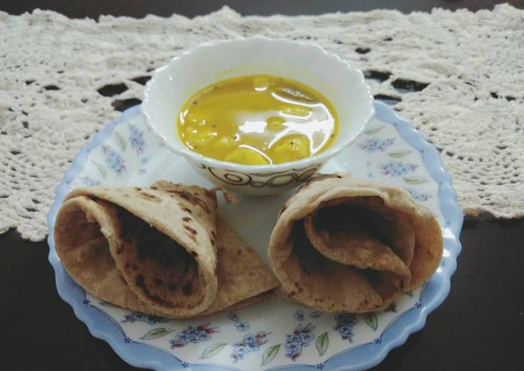 Steps to Make Homemade Arbi curry and Phulka