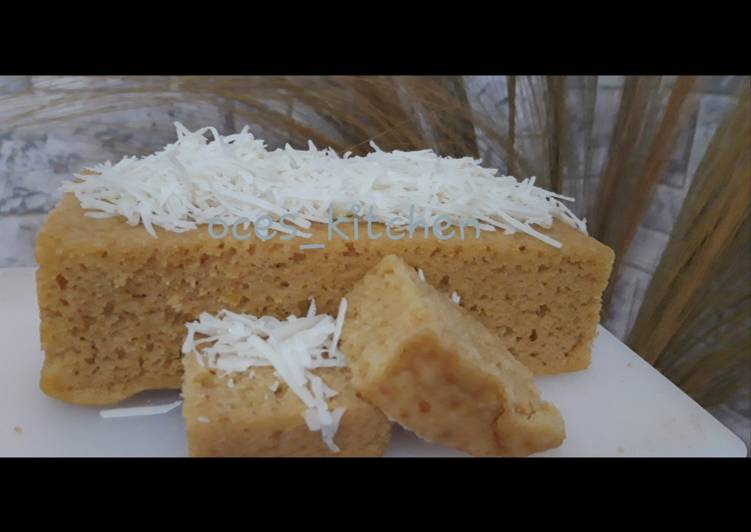 Peanut butter cake (bolu kukus selai kacang)
