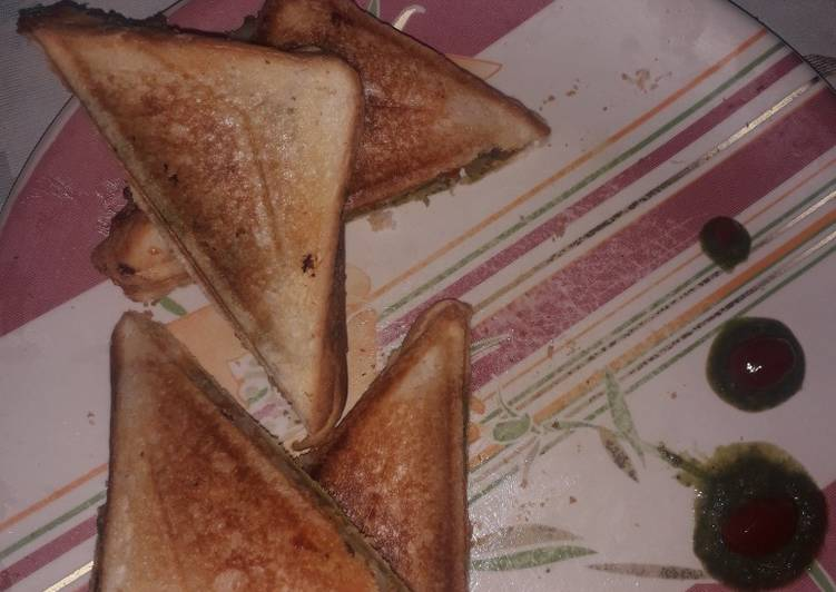 Recipe of Speedy Veg grilled sandwich