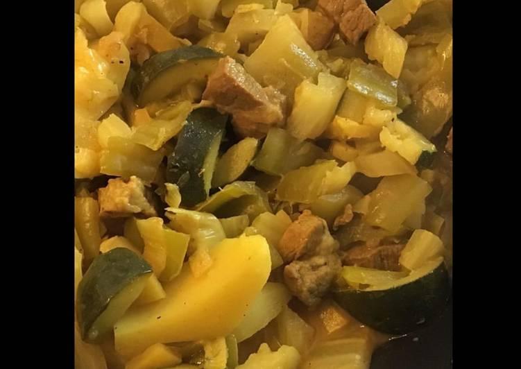Recette Des Sauté de porc aux pommes de terre,légumes et citron confit