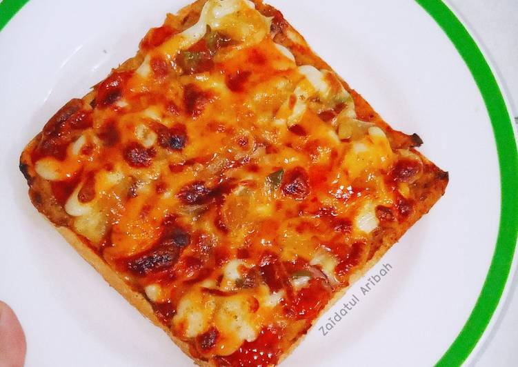 Resepi:  Pizza Roti Gardenia🍞  Terbaru