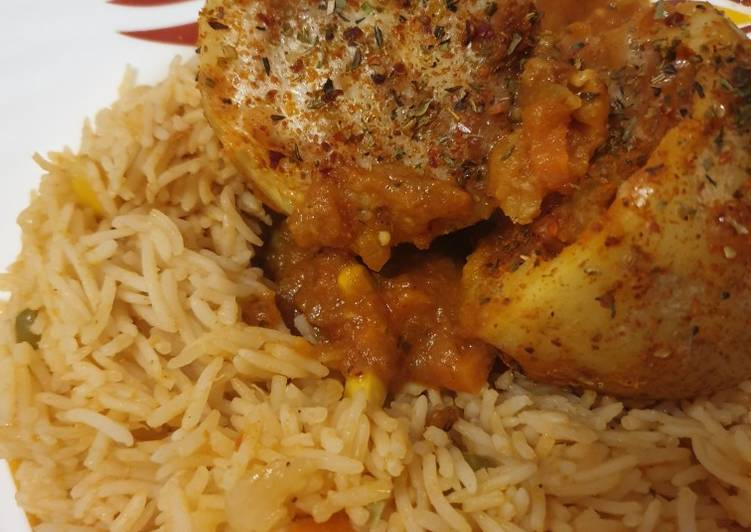 Mexican Rice with Jacket Potatoes