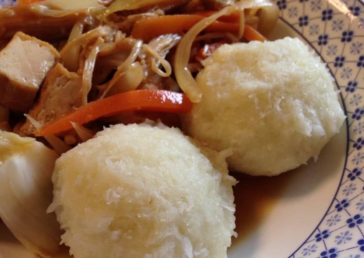 Recipe of Homemade Kartoffelklöße- German Potato Dumplings (using raw potatoes)