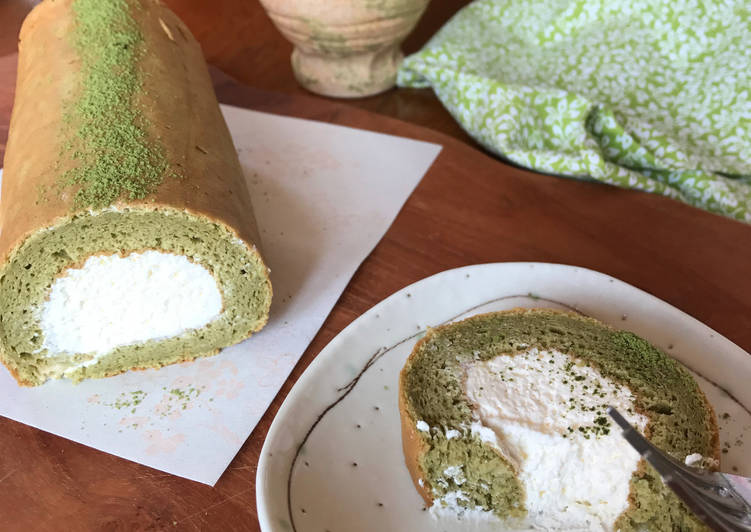 Recipe of Perfect Gluten Free Matcha Swiss Roll