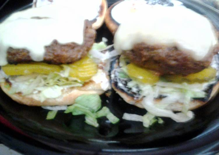 cheesy ranch burgers