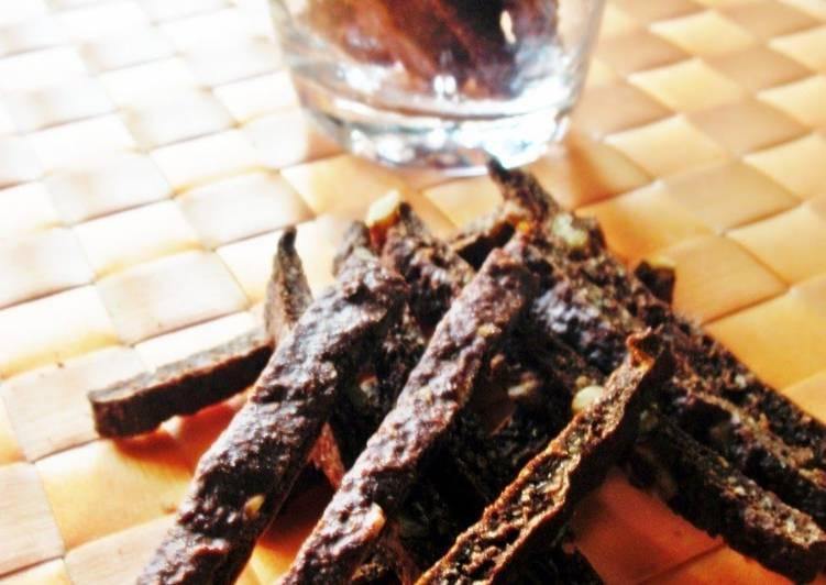 Crunchy Cocoa Okara Sticks - Laurie G Edwards