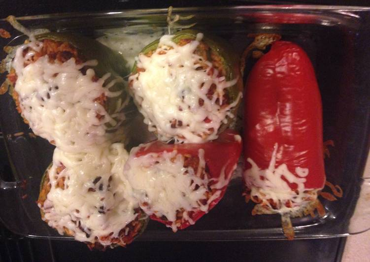 Simple Way to Prepare Quick Stuffed Bell Pepper