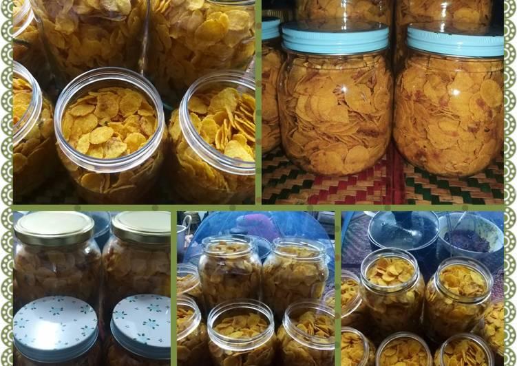Cornflakes Salted Egg Mudah cara Ummi - velavinkabakery.com