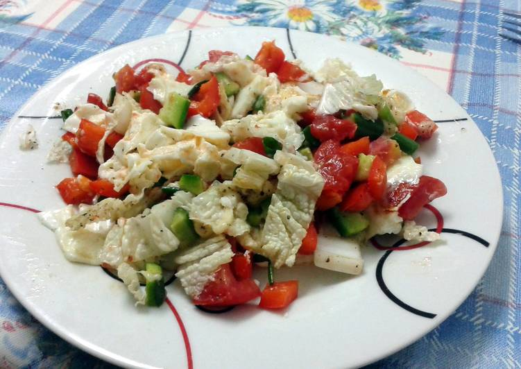 Tori's Diet Scrambled egg whites with vegetables